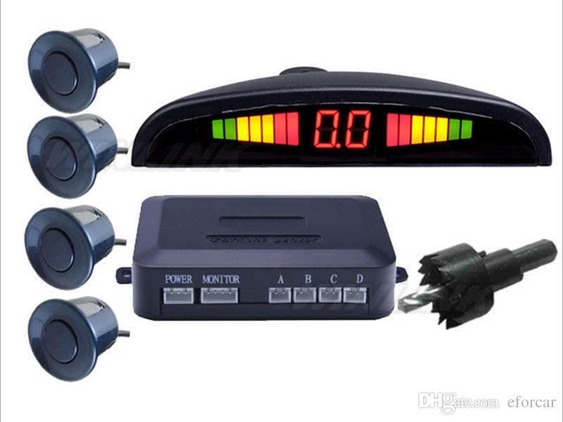 4 Sensors Car LED Parking Sensor Kit Display 12V for Cars Reverse Assistance Backup Radar Monitor System