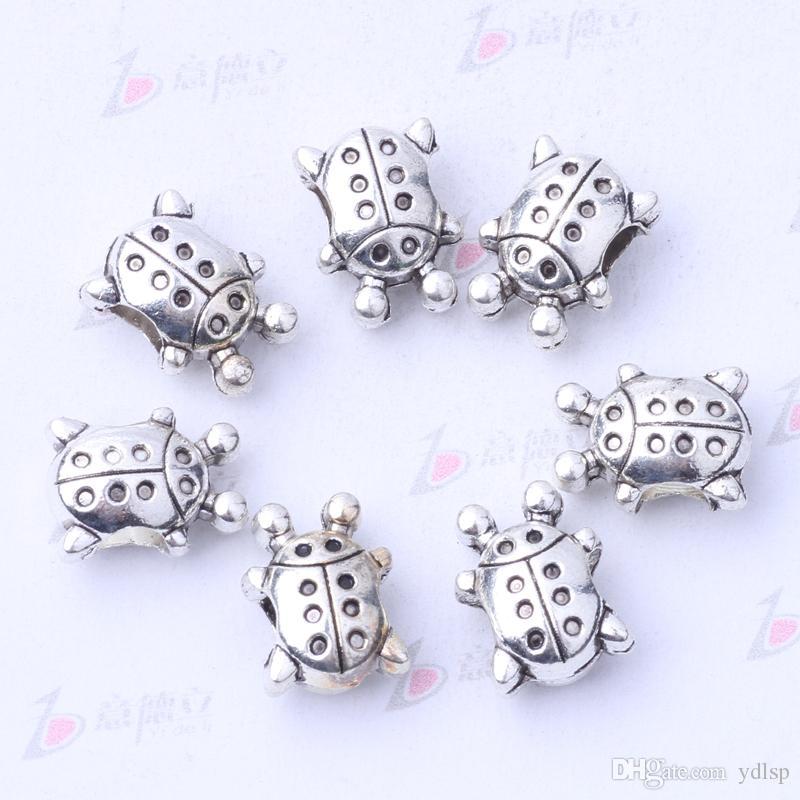 Pandora Coccinellidae cuentas de bricolaje pulseras de la joyería o collar de plata antigua / encantos de bronce / 3103z