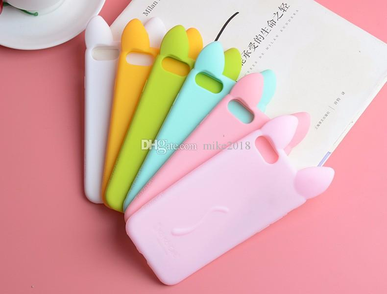 "Fashion 3D Cartoon Cat Silicone Case for iPhone X 8 10 Ten 4 4S 5 5S SE 6 6S Plus 7 7 Plus 5.5"" Cover Fundas In Stock"