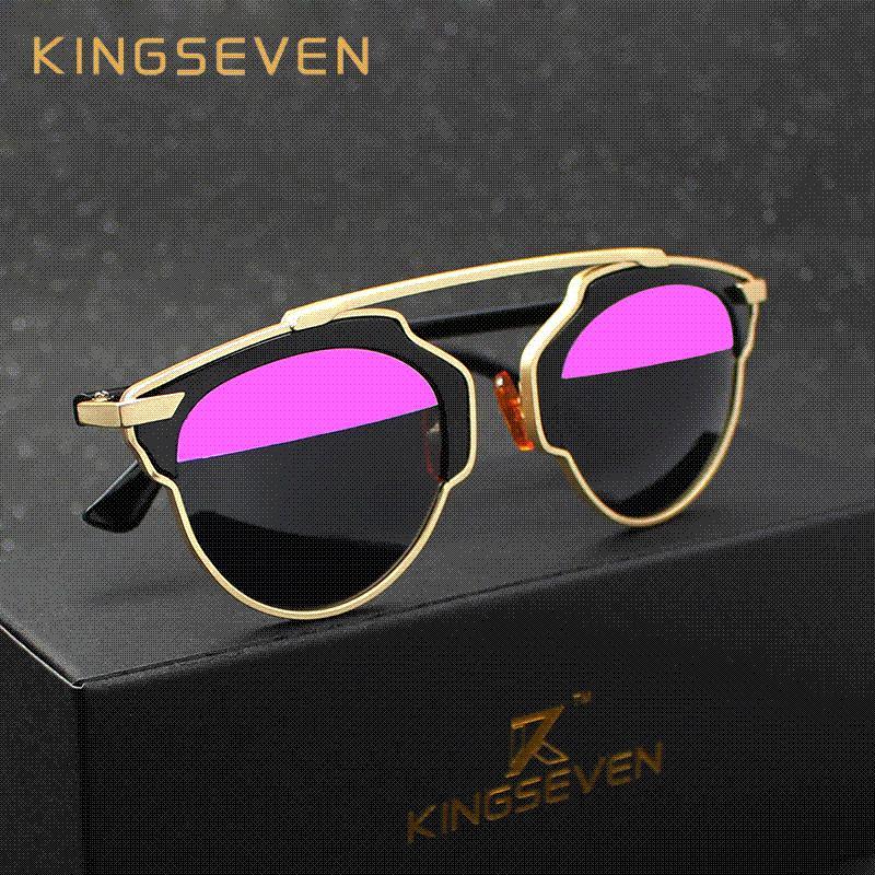 Compre Gafas De Sol Polarizadas Kingseven Mujeres Diseñador De La ...