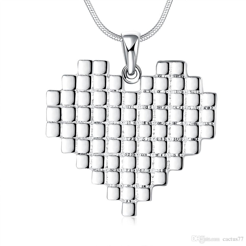 Mixed 925 Sterling Silver Plated Pendant Necklace Multi Charms Heart Love Butterfly Leaf Cross Chain Necklace Fine Jewelry for Women
