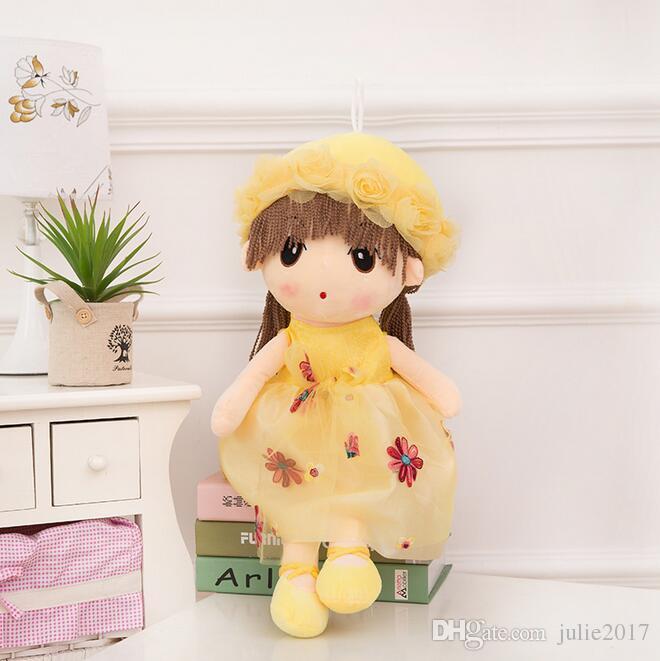 Niedliche Cartoon Mädchen Baby Angela Puppe Plüschtiere Stuffy Puppen für Mädchen Kinder Geburtstag oder Weihnachten Valentinstag Geschenk