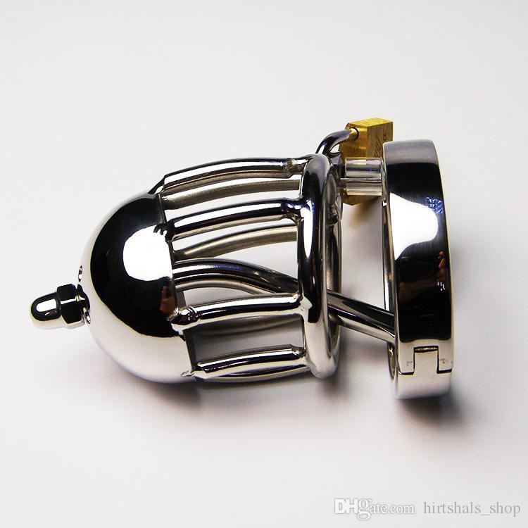 Gaiola de dispositivo de cinto de castidade masculino fetiche Sex Toys Produto Cateter de castidade SM gaiola de galo de alongamento Urethral