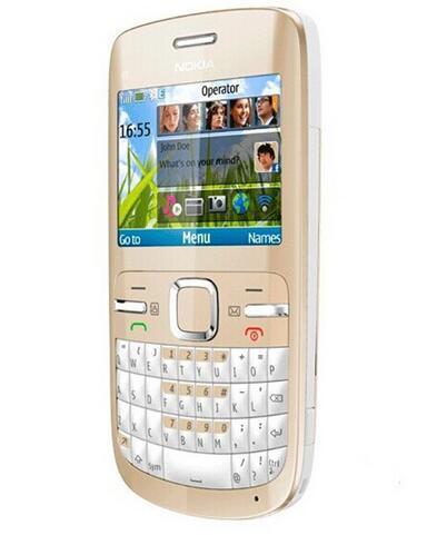 Originale Nokia C3-00 Qwerty Keyboard 2MP Camera Telecamera WiFi 2G GSM900 / 1800/1900 Phone Mobile rinnovato sbloccato