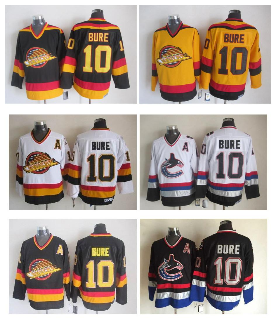 11a7ad85936 ... wholesale men vancouver canucks ice hockey jerseys cheap 10 pavel bure  retro vintage ccm authentic stitched