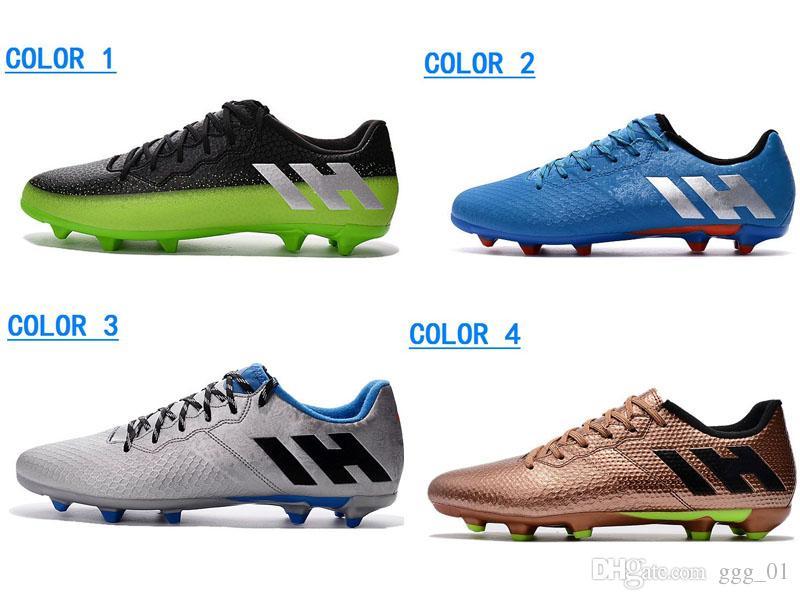 Compre 2017 Qualidade Superior Messi 16.3 FG Sapatos De Futebol Dos Homens  Sapatos De Futebol De Ouro Verde Branco Tomada De Fábrica Chuteiras De  Futebol ... de37759dd2948