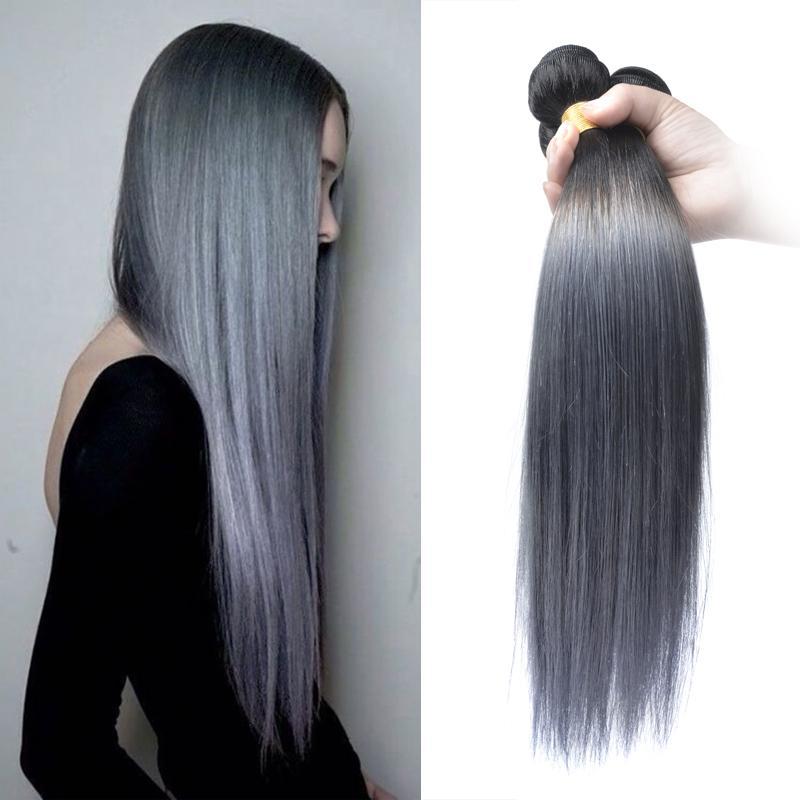 virgin malaysian hair extensions straight 1b dark grey 7a unprocessed virgin hair bundles black. Black Bedroom Furniture Sets. Home Design Ideas