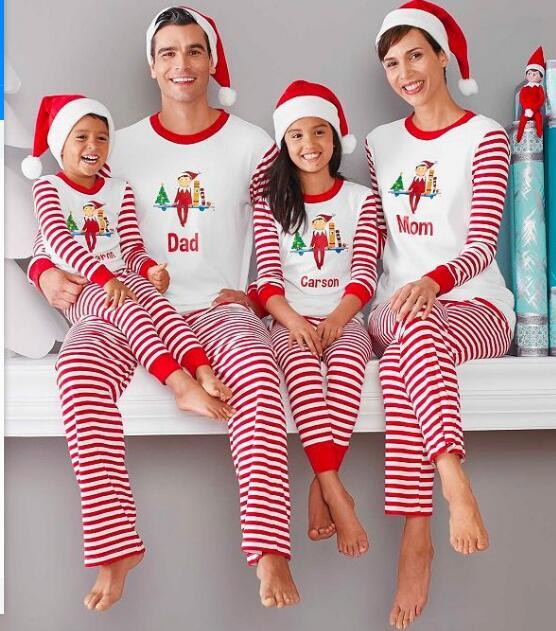 Family Matching Clothing Christmas Pajamas Mother Daughter Father ...