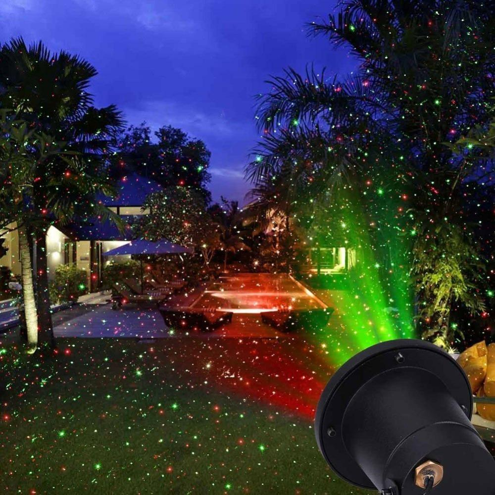 2018 new hot modern outdoor indoor 8 patterns gobos laser projector landscape garden yard lawn snow lighting home light show house from sunway168