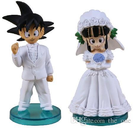 2018 Anime Dragon Ball Son Goku Chichi Wedding Scene Wcf Dwc7 Pvc ...