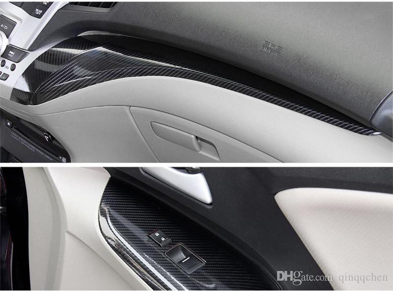 5D Carbon Fiber Vinyl Wrap Film Car Sticker Glossy Motorcycle truck heet Wrap Roll Waterproof Auto Decoration Accessories Black 50*200cm