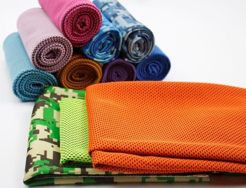 Magia bufandas capa de enfriamiento de hielo Toallas Deportes helada Toalla de enfriamiento en frío Gimnasio interior al aire libre actividades de yoga textiles para el hogar reutilizables para deportes