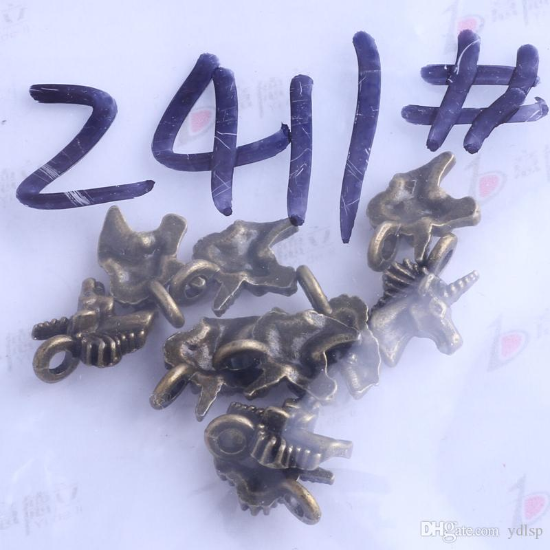 Antique Silver / bronze 11.4 * 10.2mm Horsehead Charms pendentif Vintage DIY DIY Jewelry Making / 2411