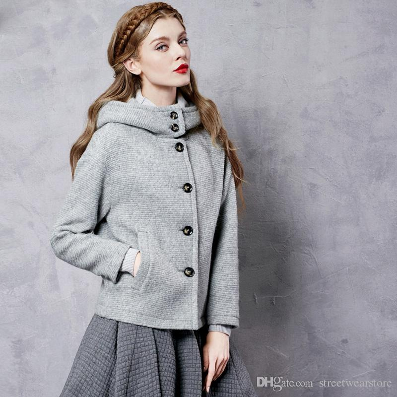 Autumn WomenS Jacket Wool Winter Coat With Hood For Women Brand Korean 2017 Short Outerwear Plus Size Ladies Casual Jackets From