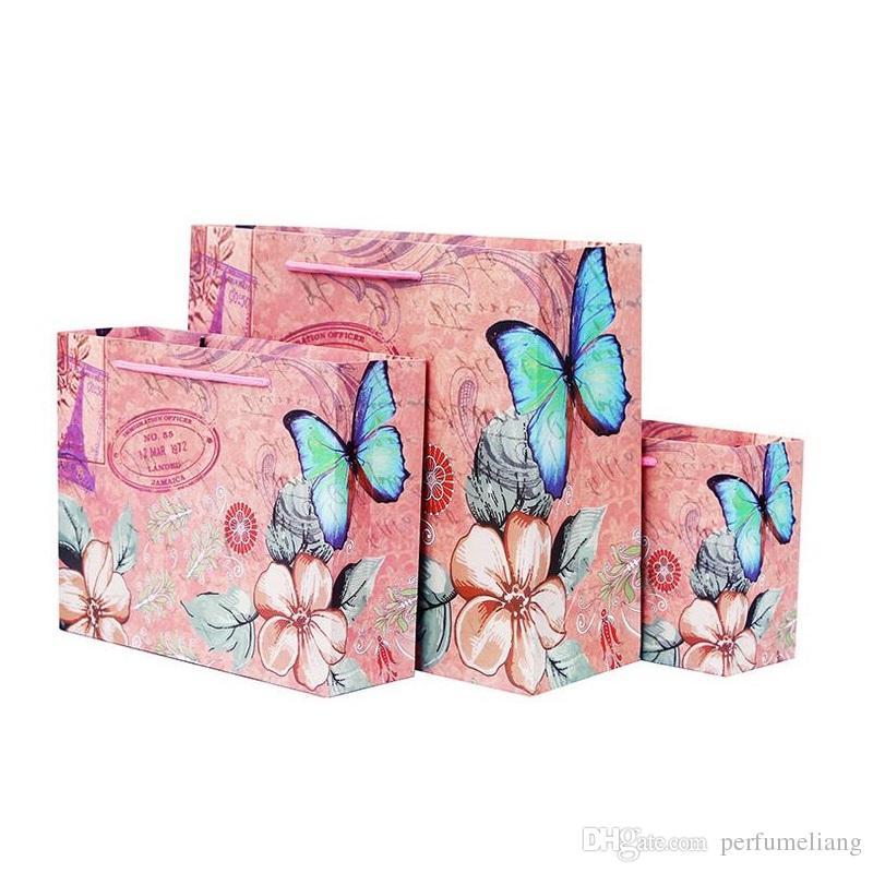 3 taille européenne paris tour eiffel papillon fleur design papier faveur cadeau sacs décoration de mariage de fête za4944