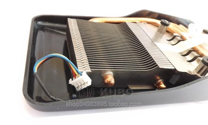 New Original Sapphire HD4860 copper base 4 heat pipe graphics card fan 53mm graphics radiator 4 pin interface