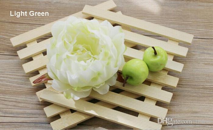 Yapay Ipek çiçek Başları Şakayık 4.7 inç Büyük Gül Çiçek Başları düğün Dekor için toptan, Çiçek Çelenk, Çiçek Garland, Çiçek Top