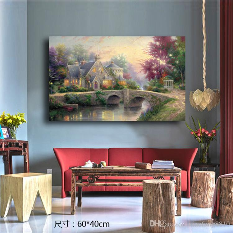 Europe Style Floral Wall Home Decor Canvas Painting For Room Decoration Print Painting Artwork No Frame