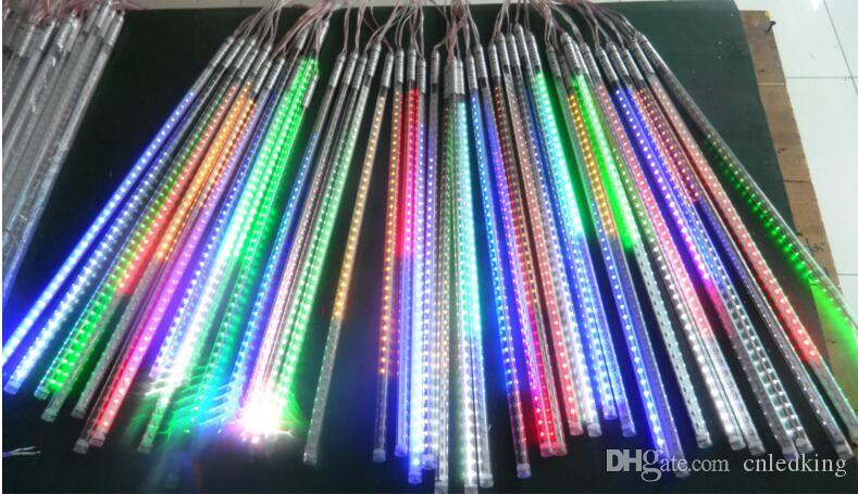LED Meteor Tube 30cm 50cm 80cm Two-side Meteor Shower Lights waterproof with power adapter DC12V Holiday Christmas decorations