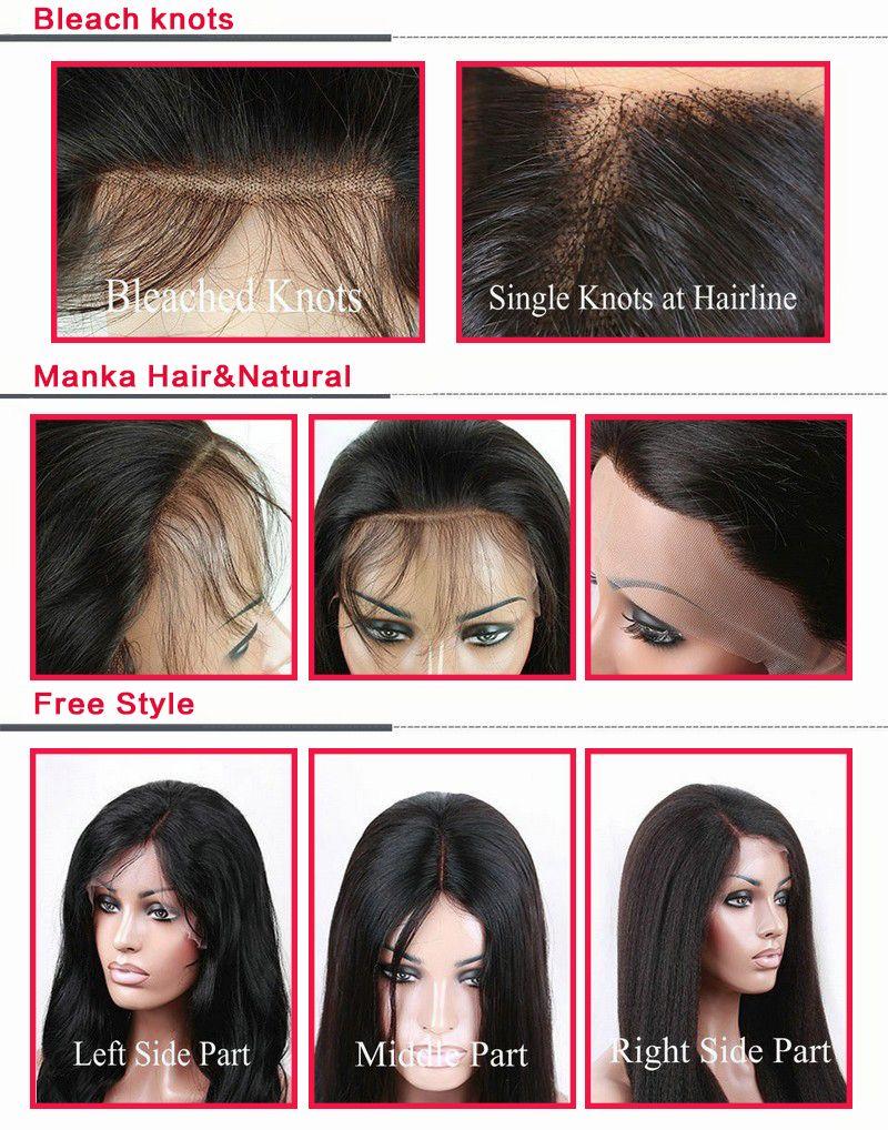 Ücretsiz stil ipek taban üst tam dantel / dantel ön sapıkça kıvırcık Brezilyalı Malezya insan iyi saç peruk bebek saç siyah kadın