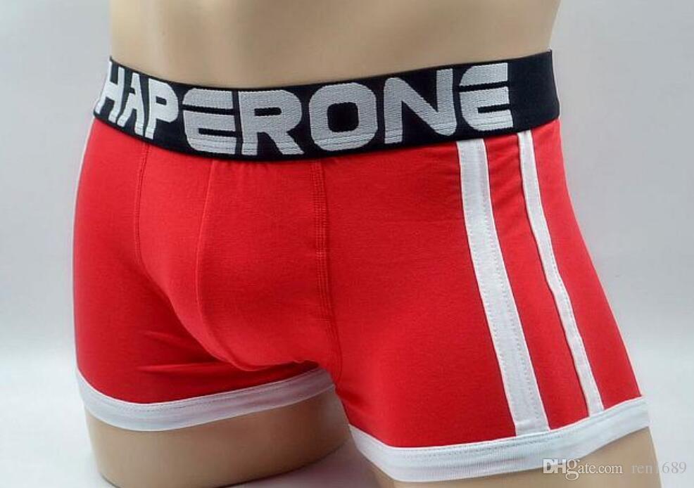 Yeni ince CHAPERONE erkek iç çamaşırı boksörler şort pamuk seksi Külot düşük bel iç çamaşırı erkekler boxer ucuz sırf külot panti 3 adet / grup