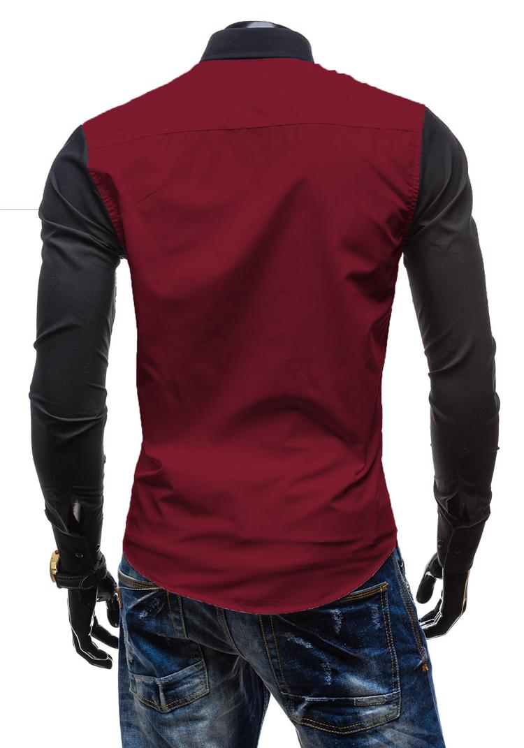 2016 여름 남성 셔츠 남성 긴 소매 드레스 셔츠 날씬한 맞게 컬러 비즈니스 셔츠를 바느질