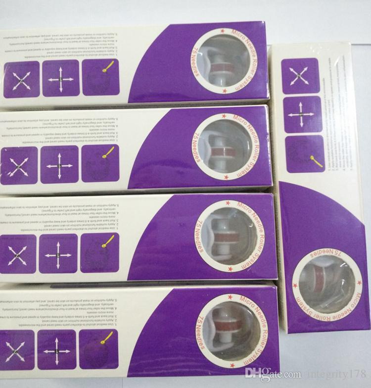 MRS Derma Roller avec 75 aiguilles pour Hommes et Femmes Précieux Inox Micro Aiguille Derma rouleau pour Soins de La Peau DHL livraison
