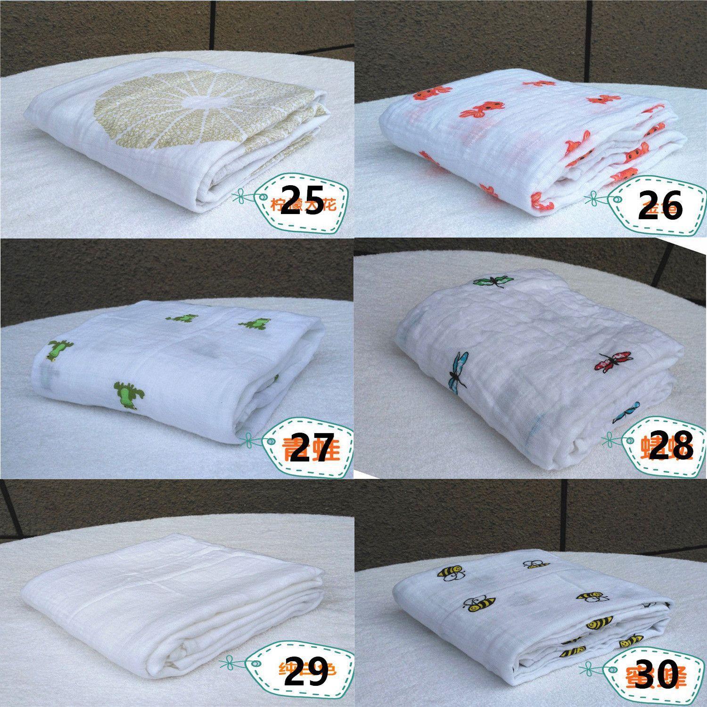 35 Estilo cobertor de musselina aden anais bebê swaddle wrap manta cobertor towelling bebê primavera verão bebê cobertor infantil 120 * 120 cm