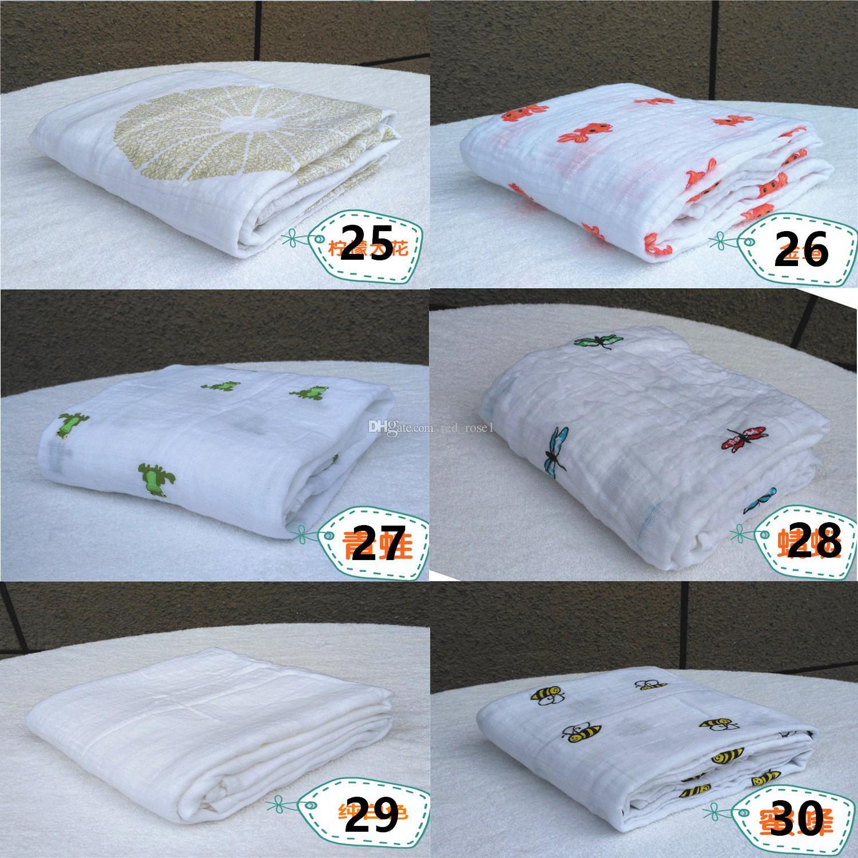 35 Style muslin blanket aden anais baby swaddle wrap blanket blanket towelling baby spring summer baby infant blanket 120*120cm