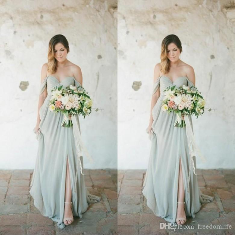 Eleagnt Sage Bridesmaid Dresses Long For