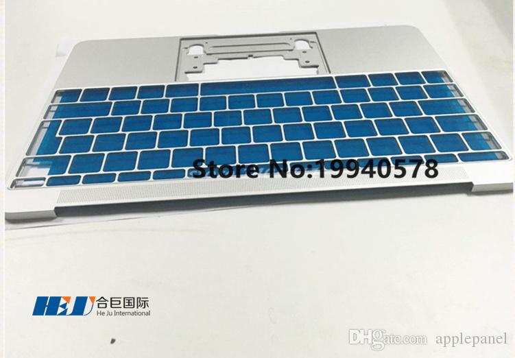 Original NEW UK Silver topcase palmrest only NO trackpad NO keyboard for Macbook A1534 2015 Wholesales MOQ: