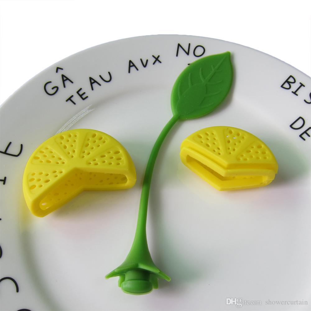 Reuseable Silicone Lemon Shape Tea Bag Infuser Holder Tea Coffee Filter Strainer Tea Ball Infusers Kitchen Accessories