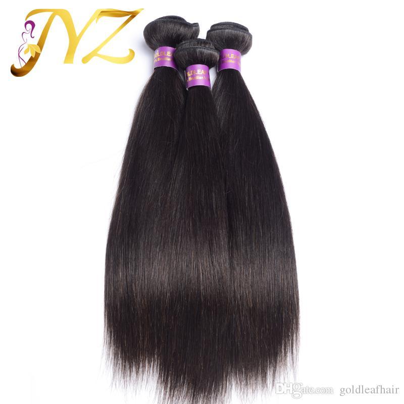 Menschenhaar-Produkte / brasilianisches indisches peruanisches malaysisches Haar gerade, 100% unverarbeitete Haar-Erweiterungen, die frei versenden