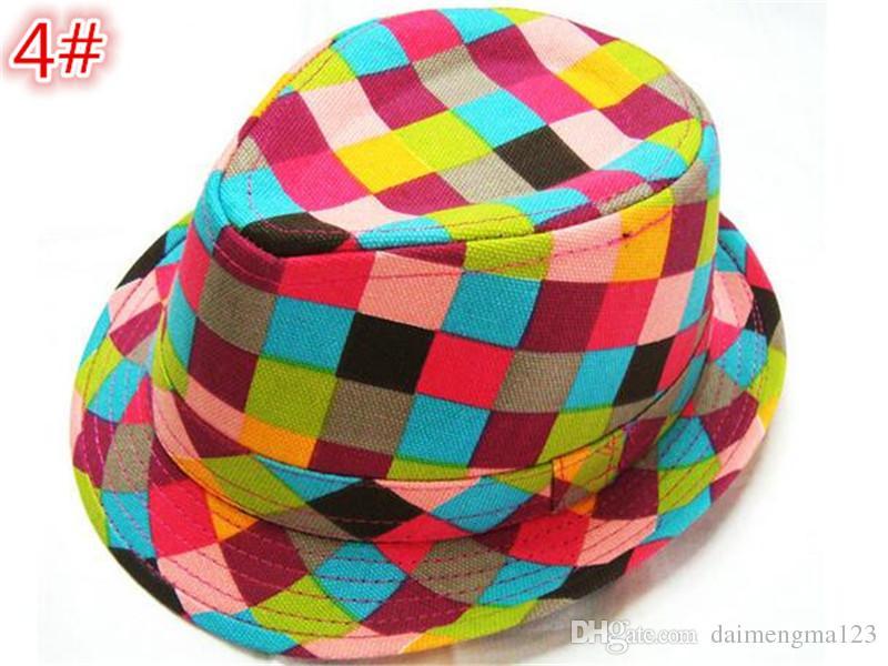 21 Designs Mode Unisex Casual Fedora Trilby Hut Baby Kinder Kinder Caps Zubehör Hut Dandys Jazz Kappe D783