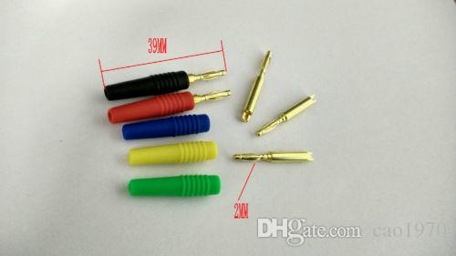 COPPER Gold plated 2MM Banana Plug Test Probes adapter soldering