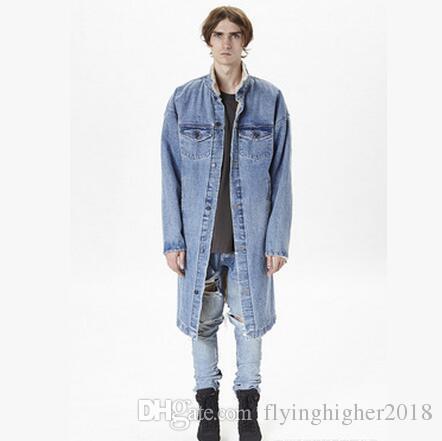 f7a4bf7b6ddc 2019 FOG FEAR OF GOD 2017 Newest Men Women Long Denim Jacket Lambswool  Streetwear Trench Coats Winter Wool Liner Windbreaker From  Flyinghigher2018