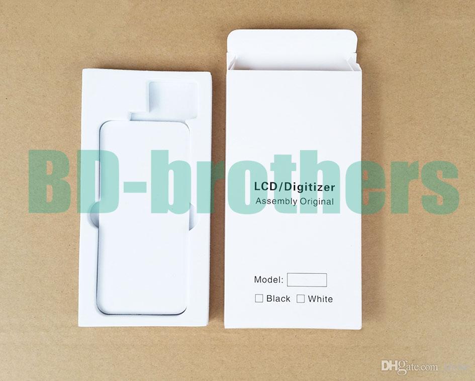 Wihte 종이 상자 +에 바 필러 케이스 아이폰 4 5 6 4.7 5.5 및 삼성 전화 LCD 스크린 디지타이저 보호 패키지 풀 세트 /