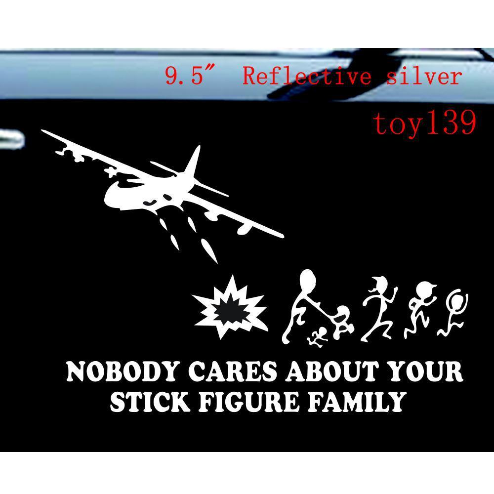 2019 nobody cares about your stick figure family tank car truck wall phone window decal sticker reflective silver from mysticker 5 03 dhgate com