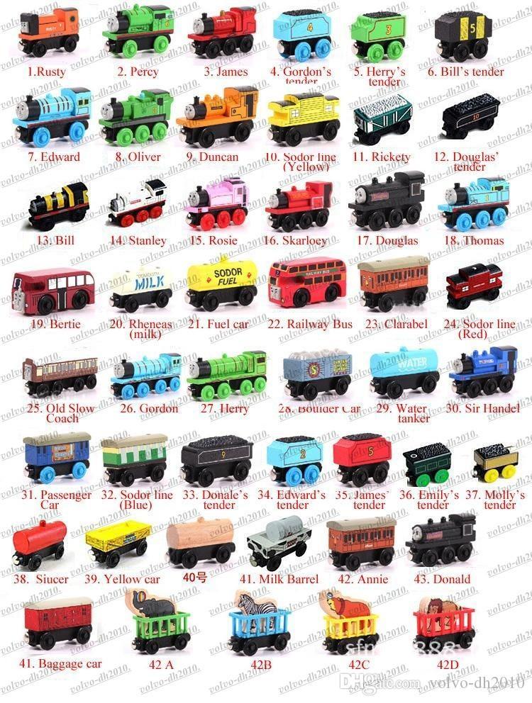 Trenes de madera Juguetes de dibujos animados 70 Estilos Trenes Amigos Trenes de madera Juguetes de auto Los mejores regalos de Navidad Envío libre de DHL LLFA11