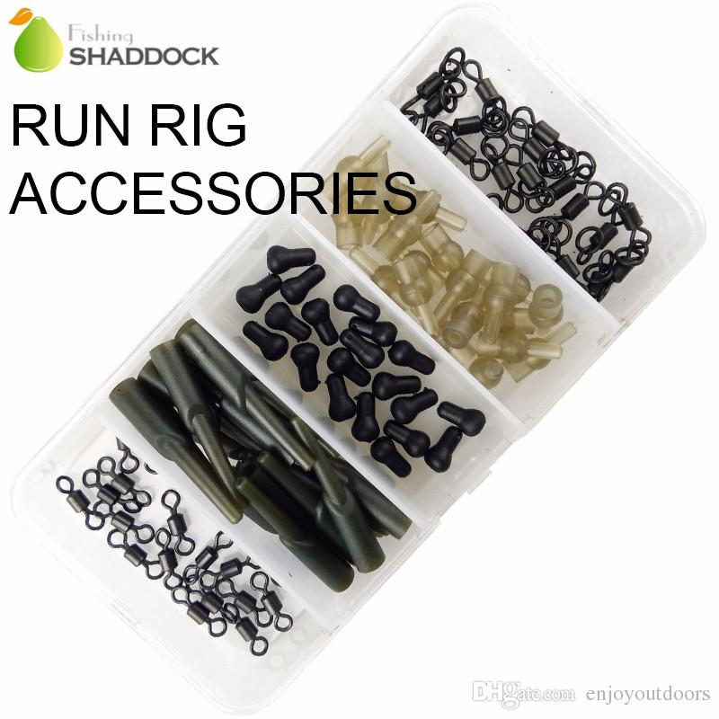 Carp Fishing Run Rig Accessories Running Rigs Swivel Sleeve Connector Carp Fishing Accessories Set With Box