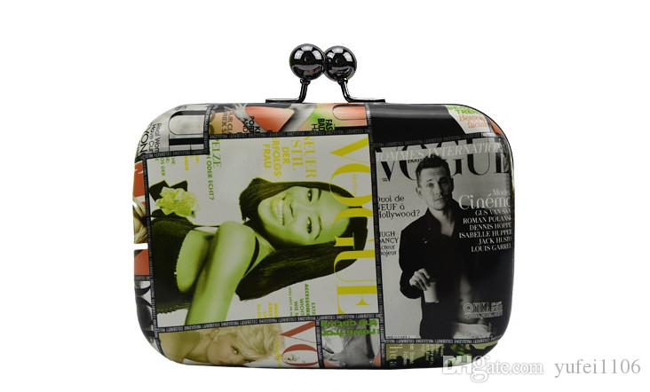 Feminino saco atacado na Europa e no verão 2016 novo shell mini bolsa de graffiti com bolsa de ombro único, saco de noite