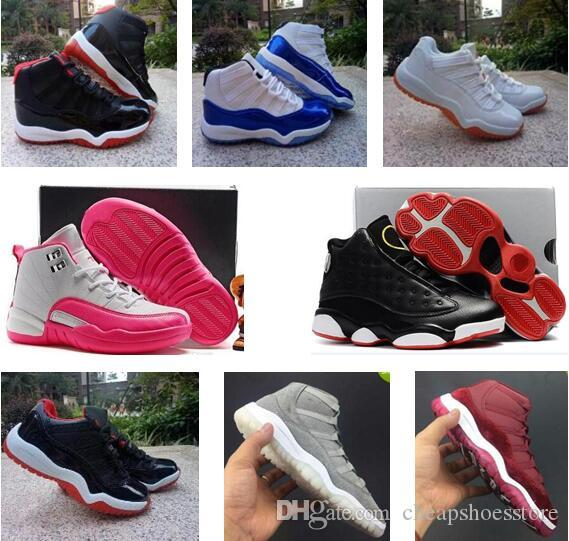 New Arrival Kids Sport Shoes 11 12 13 Basketball Shoes Boys Girls Athletic Shoes Children Sports Sneakers Toddlers Birthday Gift