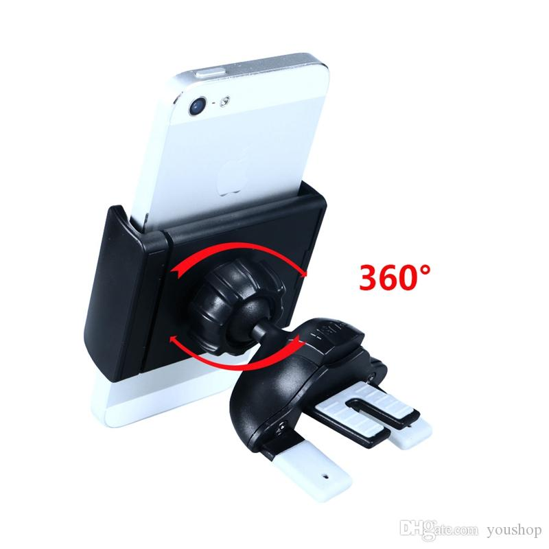 Fly Universal Mobile Holder Car Air Vent Mount Holder for iphone 6S 7 Cell Phones Smartphones