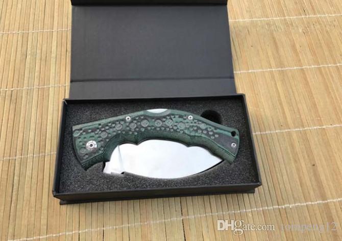 Aço frio nove cauda grande faca 440C 58HRC faca dobrável e Faca de Caça frete grátis