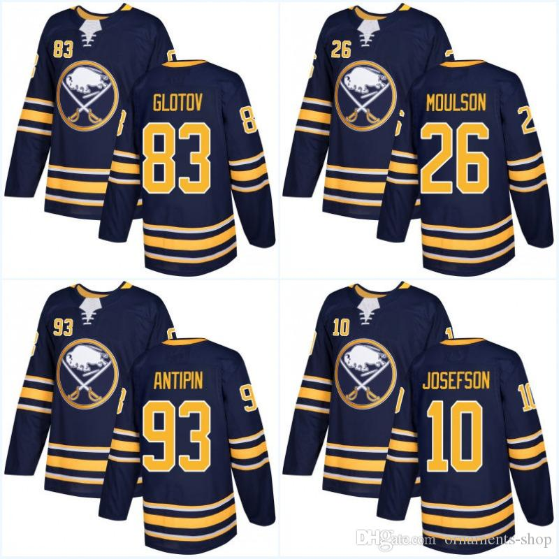 38d784b45 ... 2017 2018 New Ad Buffalo Sabres Jerseys 40 Robin Lehner 33 Jason Kasdorf  31 Chad Johnson Reebok NHL Mens ...