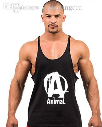2c0653934f7fb 2019 Wholesale Mens Bodybuilding Vest GYM Tank Tops Cotton Sleeveless Mens  Y Back Stringer Tank Top Undershirt Sports Training Camisetas Gym From ...