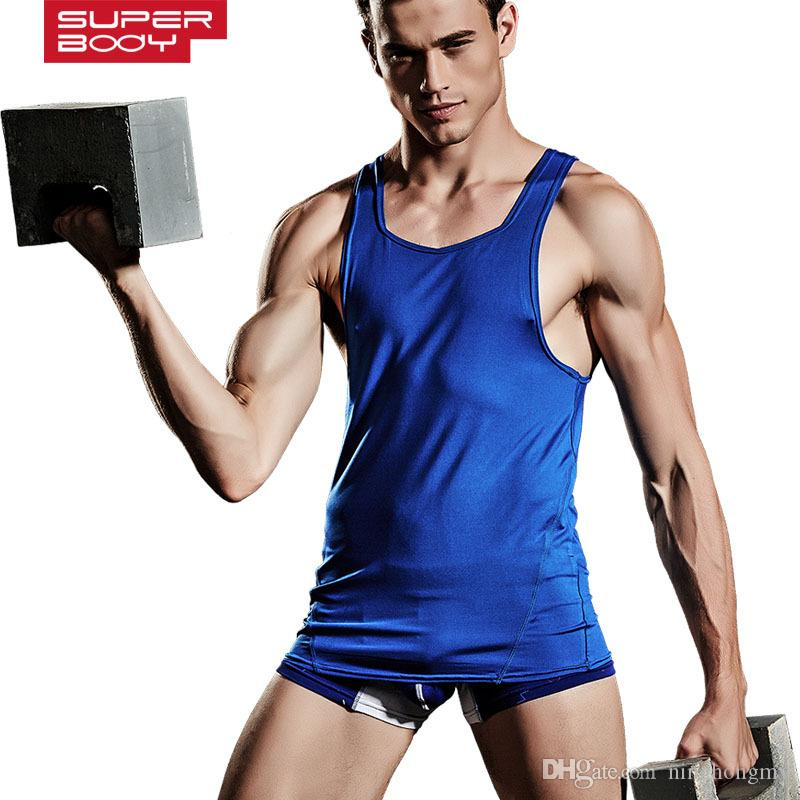 Mens Vest Men Tank Top Tees Sleeveless Solid Tshirts Stringer Singlets Casual Undershirts Bodybuilding Muscle Clothes sexy Gay underwear