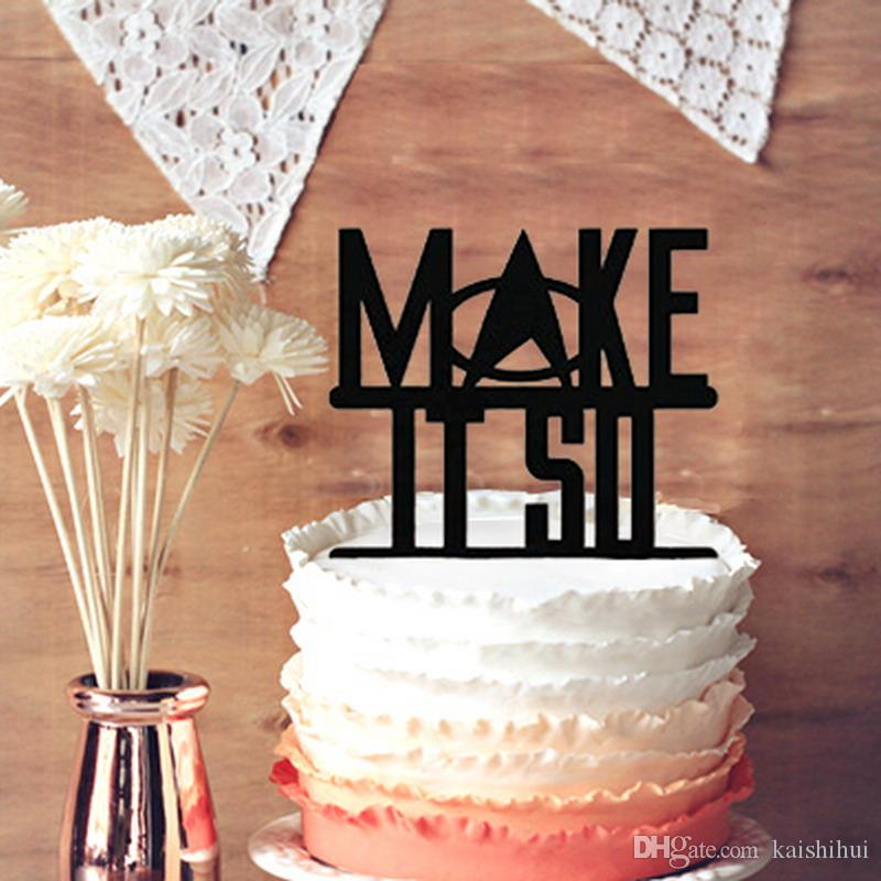 Romantic Wedding Anniversary Cake Toppers Star Trek Make It So ...