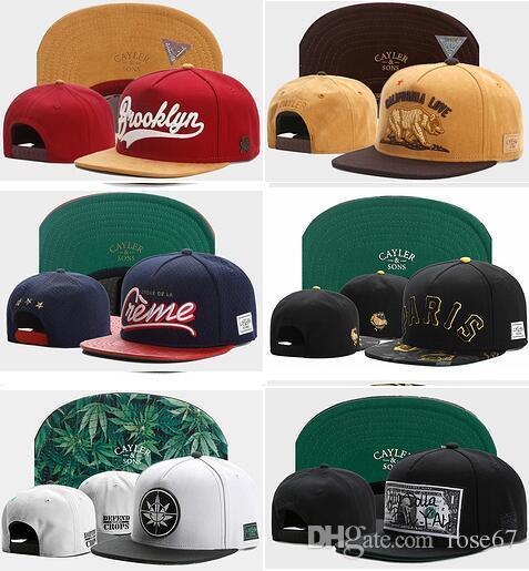 Wholesale new CAYLER & SONS Flagged US Adjustable Snapbacks Baseball Cap  Hat Cheap Holy Brooklyn Wild Style caps Label Rasta Power Headwears