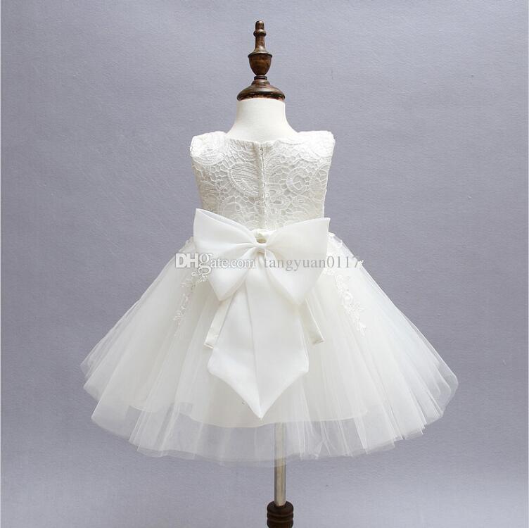 Dentelle Fleur Fantaisie Robes De Soirée Pour Fille Bébé Enfant Robe De Mariée Petite Fille Robe De Cérémonie Fille Beauté Robe De Baptême
